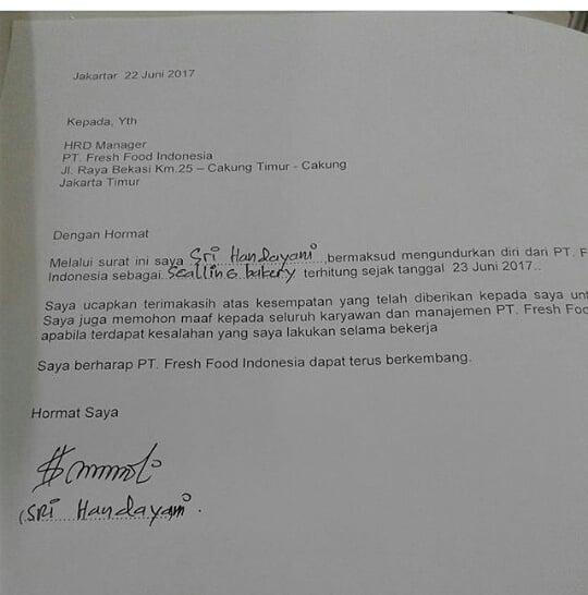 surat resign istimewa