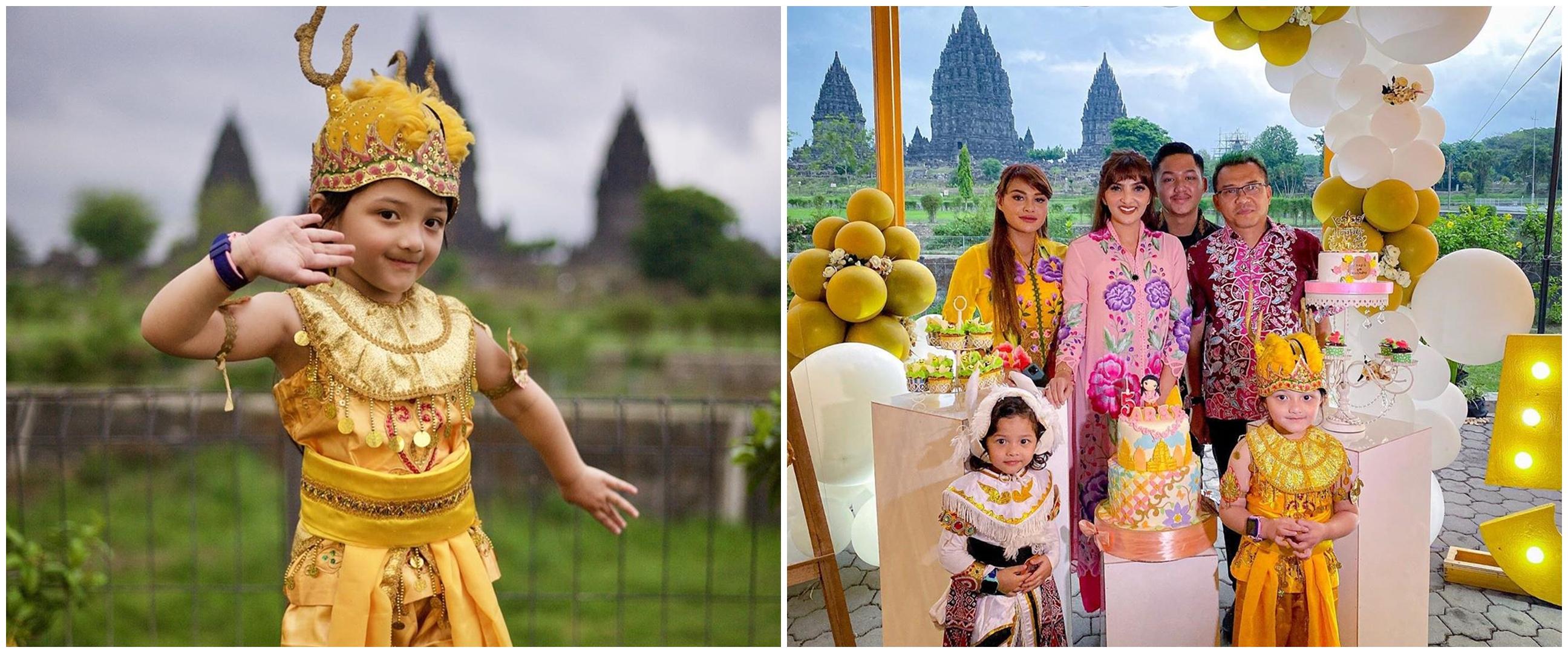 8 Potret pesta ultah ke-5 Arsy Hermansyah, kental nuansa Jawa