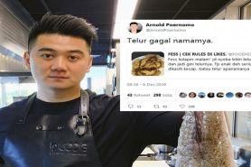 7 Cuitan Chef Arnold hadapi masakan warganet, nyelekit