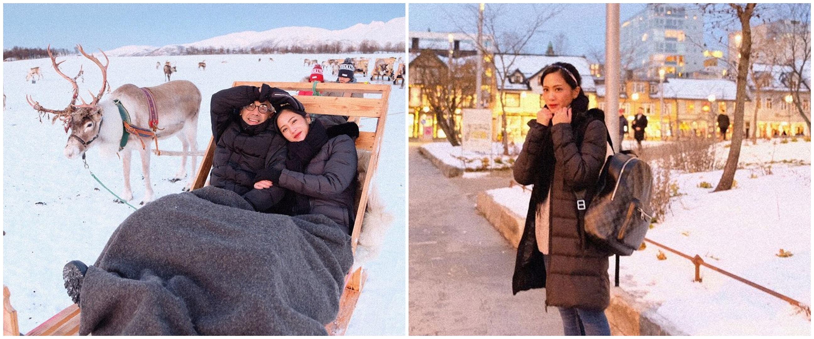 10 Potret liburan Bunga Zainal di Norwegia, bak negeri dongeng