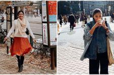 7 Momen liburan Naysila Mirdad di Jepang, 'dilamar' kakek-kakek