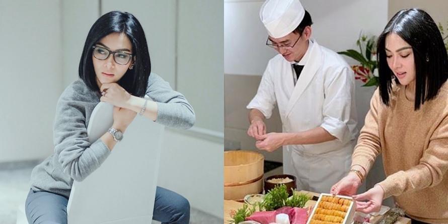 Belajar masak di rumah, Syahrini ungkap sudah bisa bikin sayur sup