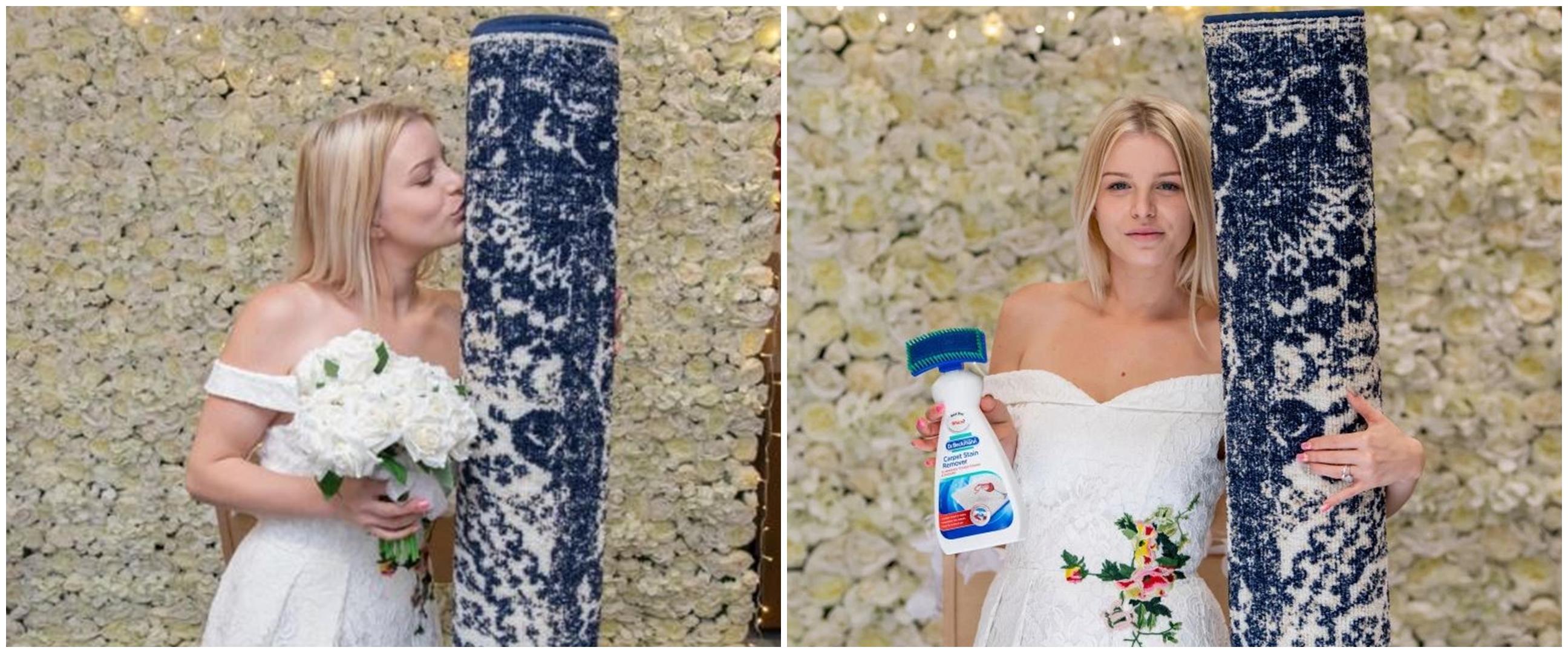 Viral, wanita cantik 26 tahun menikah dengan karpet