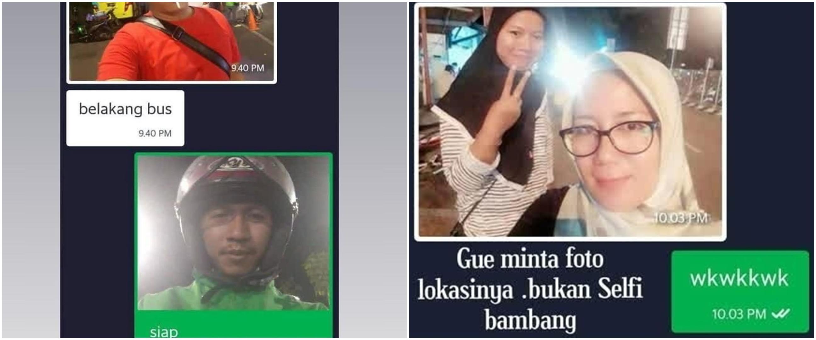 8 Momen driver ojek online & penumpang kirim foto lokasi, kocak