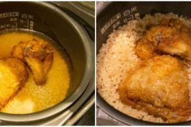 Usai viral, ini 8 resep nasi dimasak campur ayam KFC ala netizen