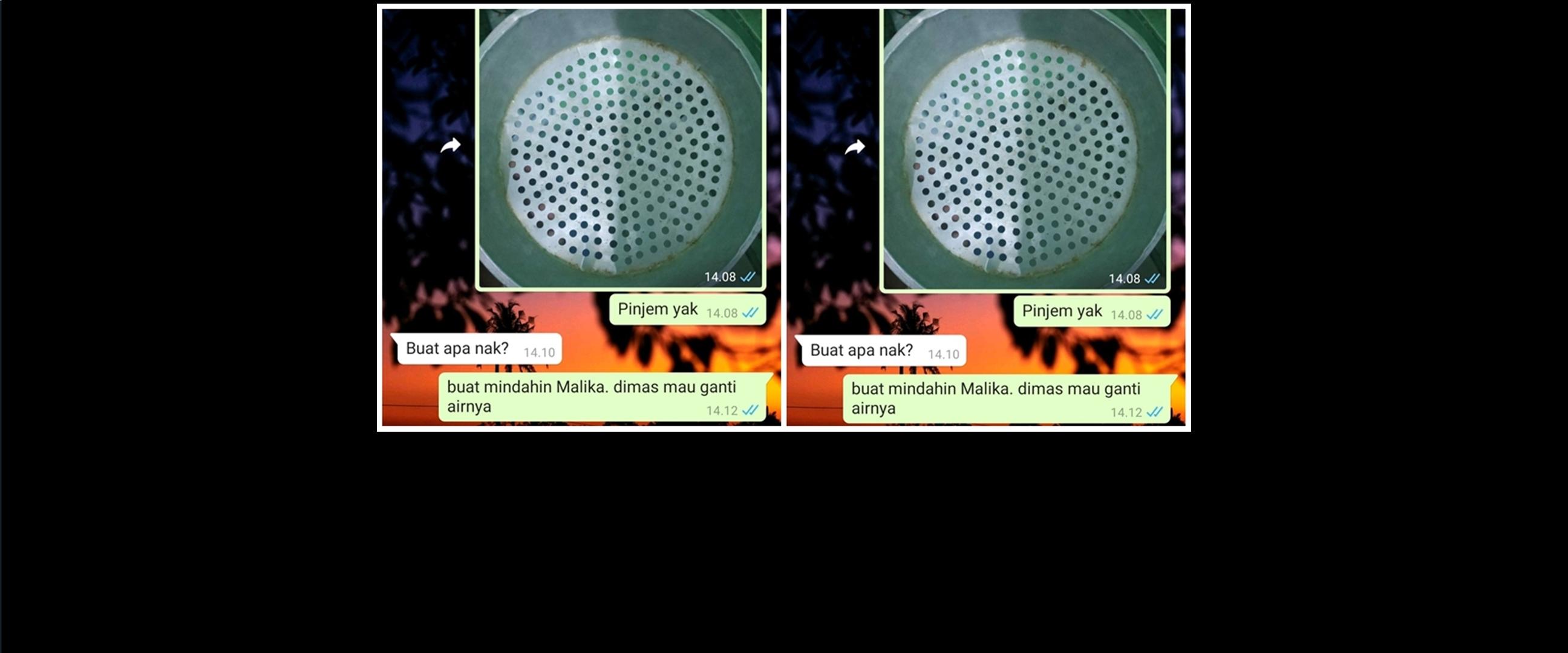 Chat WA ibu dan anak soal pinjam alat dapur ini kocak abis