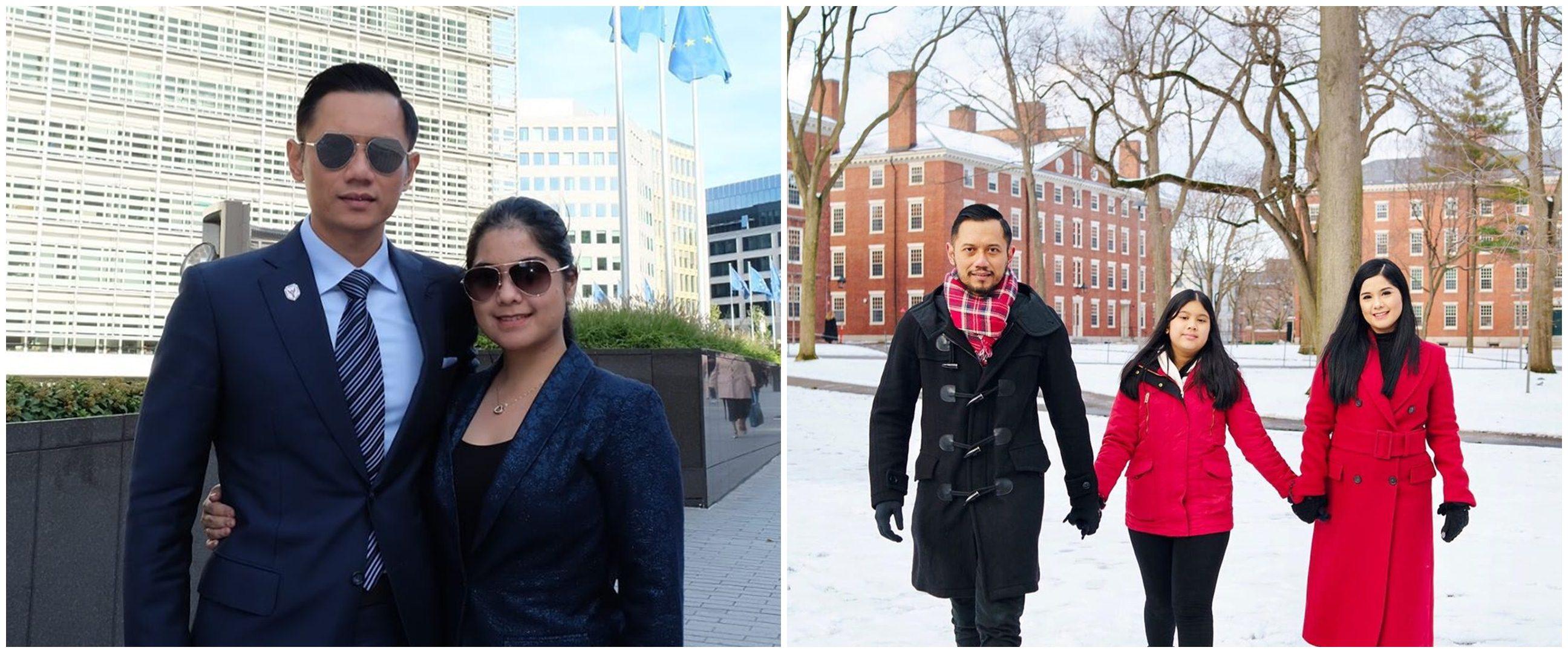 8 Potret keseruan Agus Yudhoyono sekeluarga liburan di Amerika