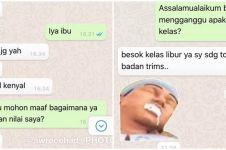 10 Chat WA lucu dosen saat dihubungi mahasiswa ini bikin nyengir