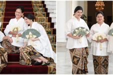 10 Potret kompak Iriana Jokowi, Selvi, & Kahiyang di Hari Ibu
