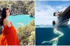 5 Momen prewedding Boy William di dalam laut, Karen jadi duyung