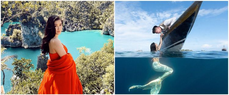 5 Momen prewedding Boy William di dalam laut, Karen jadi duyung