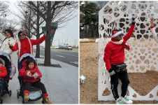 10 Momen Natal Judika dan keluarga, liburan di Korea