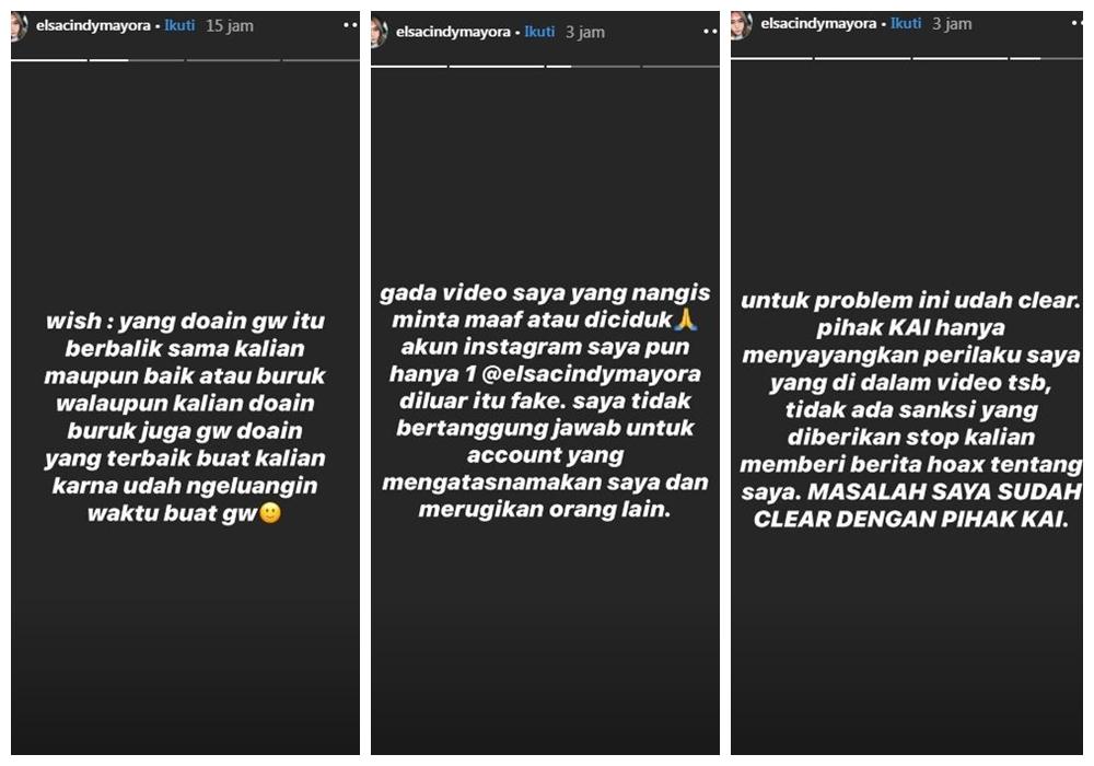 Viral perempuan ngevape dalam kereta Instagram