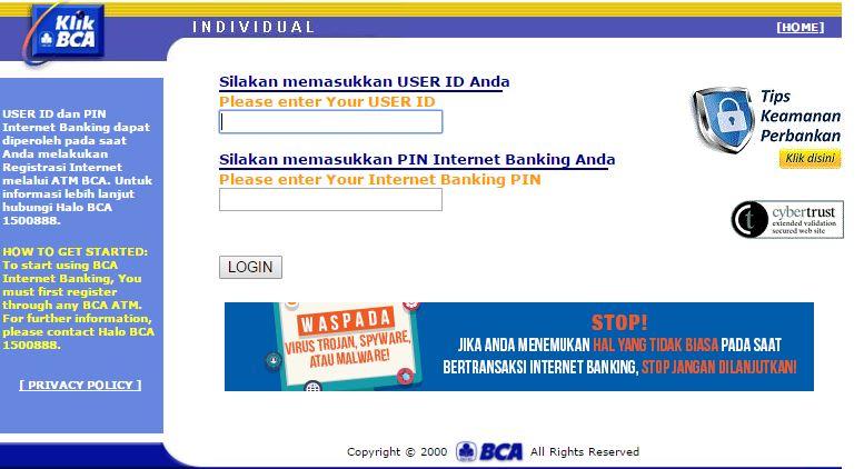 internet banking bca istimewa