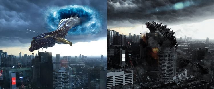 10 Editan foto viral langit gelap Jakarta ini jadi berasa masuk film