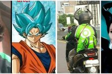 8 Potret lucu driver ojek online cosplay tokoh super, kocak
