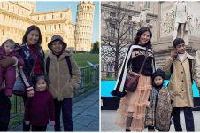 10 Potret seru liburan Ruben Onsu dan keluarga ke Italia