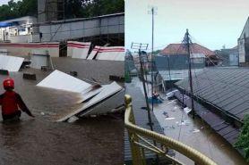 15 Foto dan video kondisi terbaru banjir Jakarta, capai atap rumah