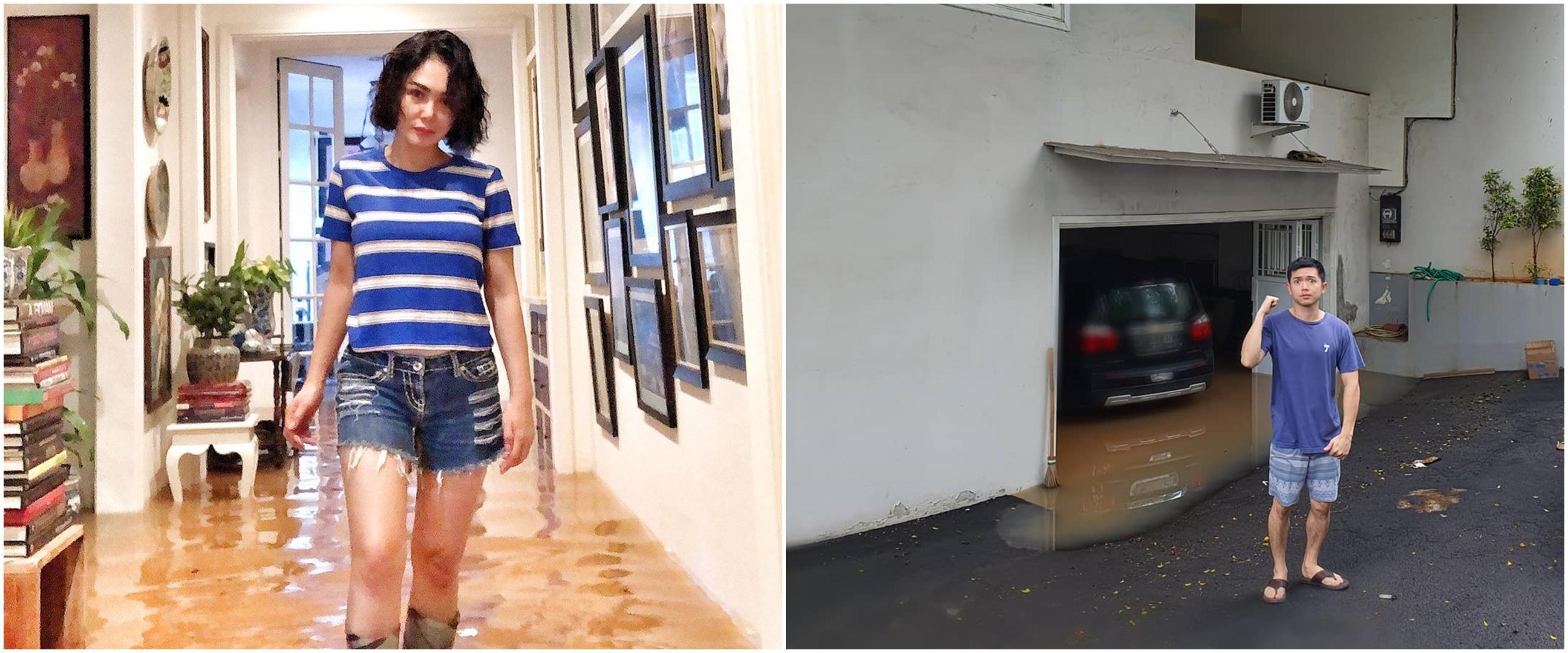Penampakan rumah 6 seleb terkena banjir Jakarta, airnya sepinggang