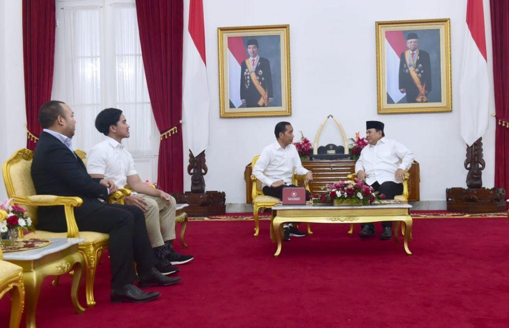 Jokowi Prabowo bertemu awal tahun 2020 © 2020 setpres.setneg.go.id