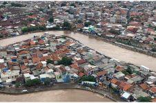 10 Potret udara penampakan banjir dari langit Jakarta