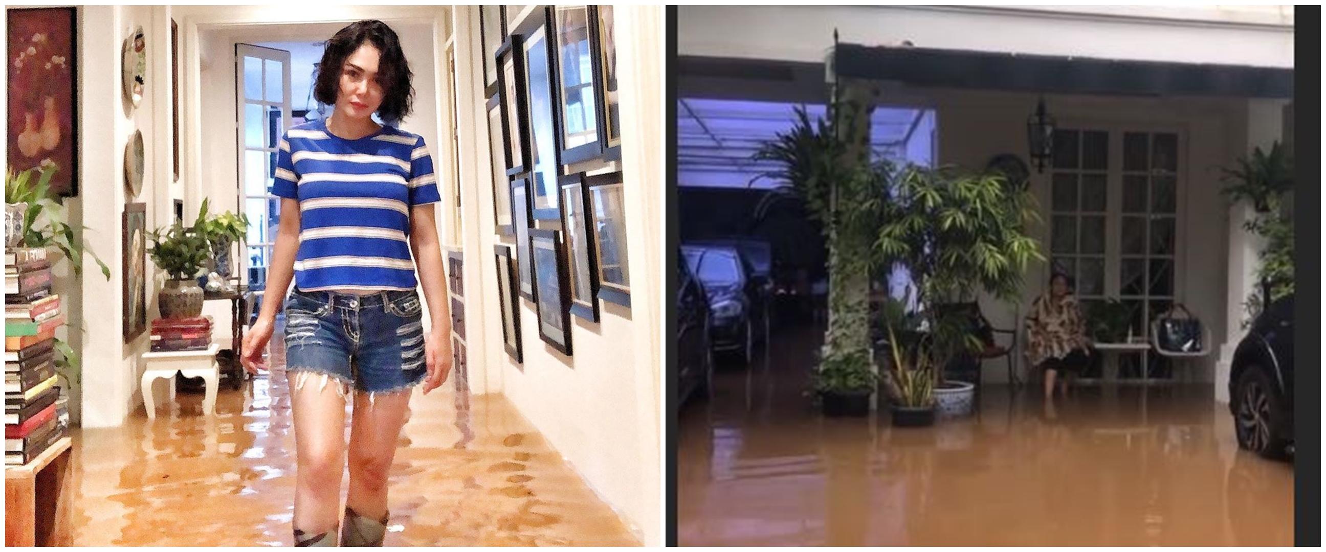 Penampakan garasi 6 seleb terendam banjir Jakarta