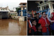 Perjuangan petugas pintu air Manggarai tembus banjir, bikin terenyuh