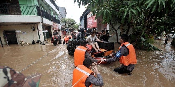 Banjir Jakarta jadi sorotan media asing, korban capai 21 orang © 2020 merdeka.com