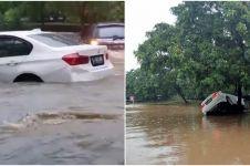 Viral mobil BMW hanyut banjir, ini 5 potretnya saat ditemukan