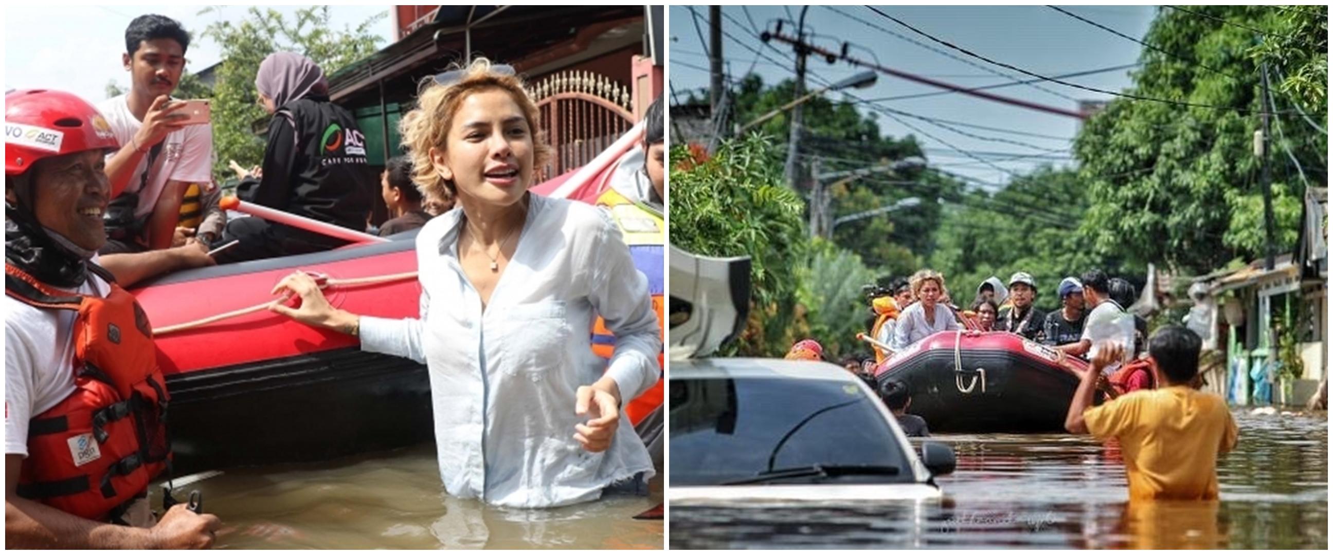 Aksi 5 seleb bantu korban banjir Jakarta, bikin salut
