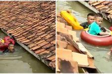 Aksi heroik marinir terjang banjir 3 meter demi selamatkan balita