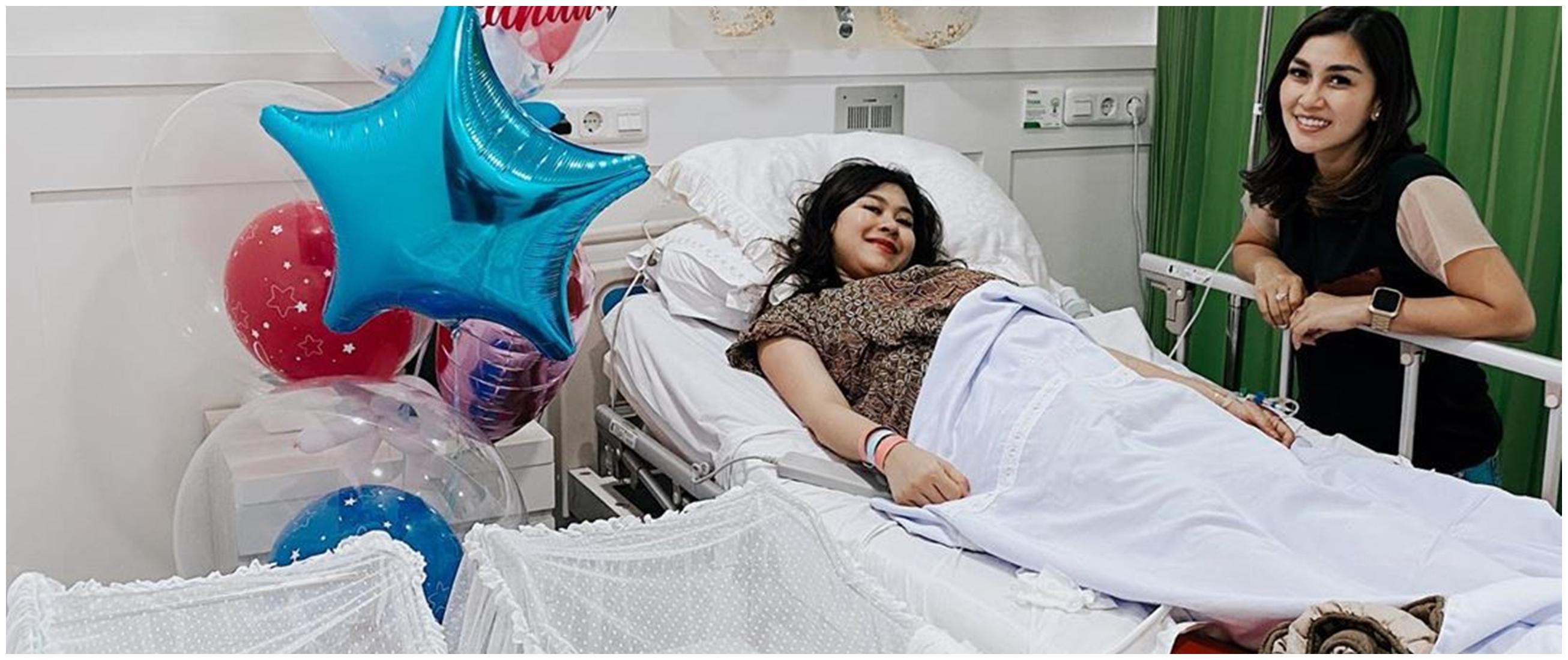 10 Momen bahagia Syahnaz lahirkan bayi kembar, namanya keren