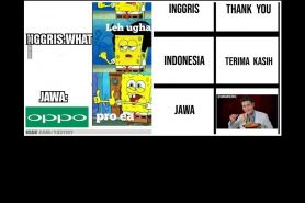 11 Meme lucu bahasa Jawa vs bahasa Indonesia, bikin ketawa