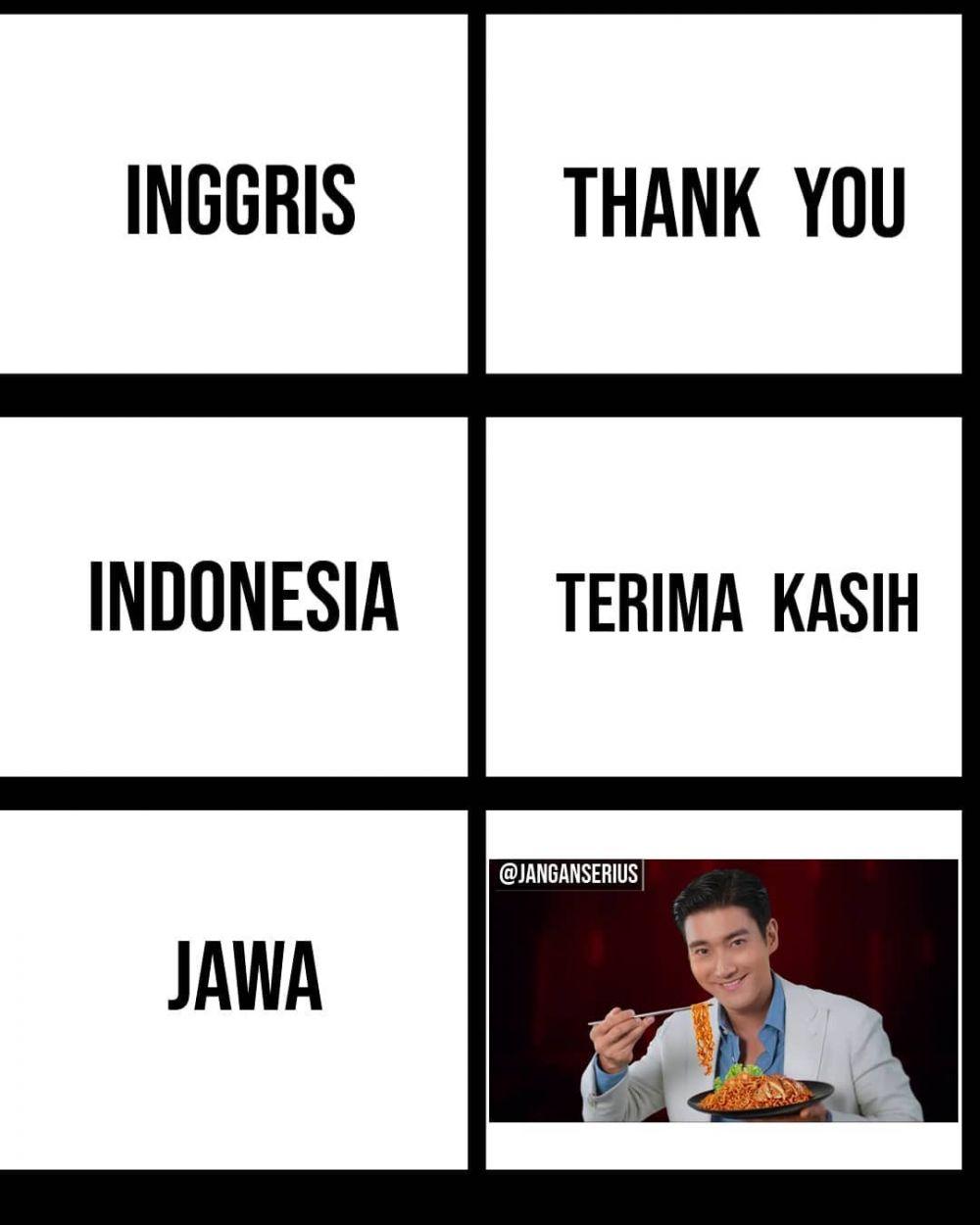 11 Meme Lucu Bahasa Jawa Vs Bahasa Indonesia Bikin Ketawa