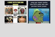10 Meme serba-serbi tato ini lucunya bikin senyum tipis