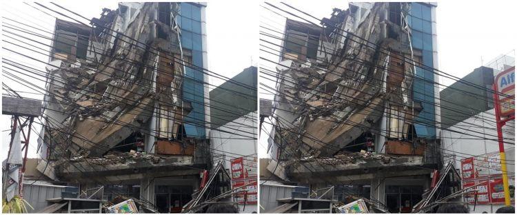 Penampakan gedung 4 lantai di Slipi yang ambruk dan lukai 11 orang