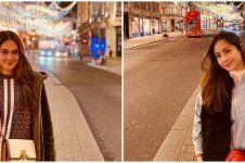 7 Adu gaya Nagita Slavina & Luna Maya di London, stylish abis