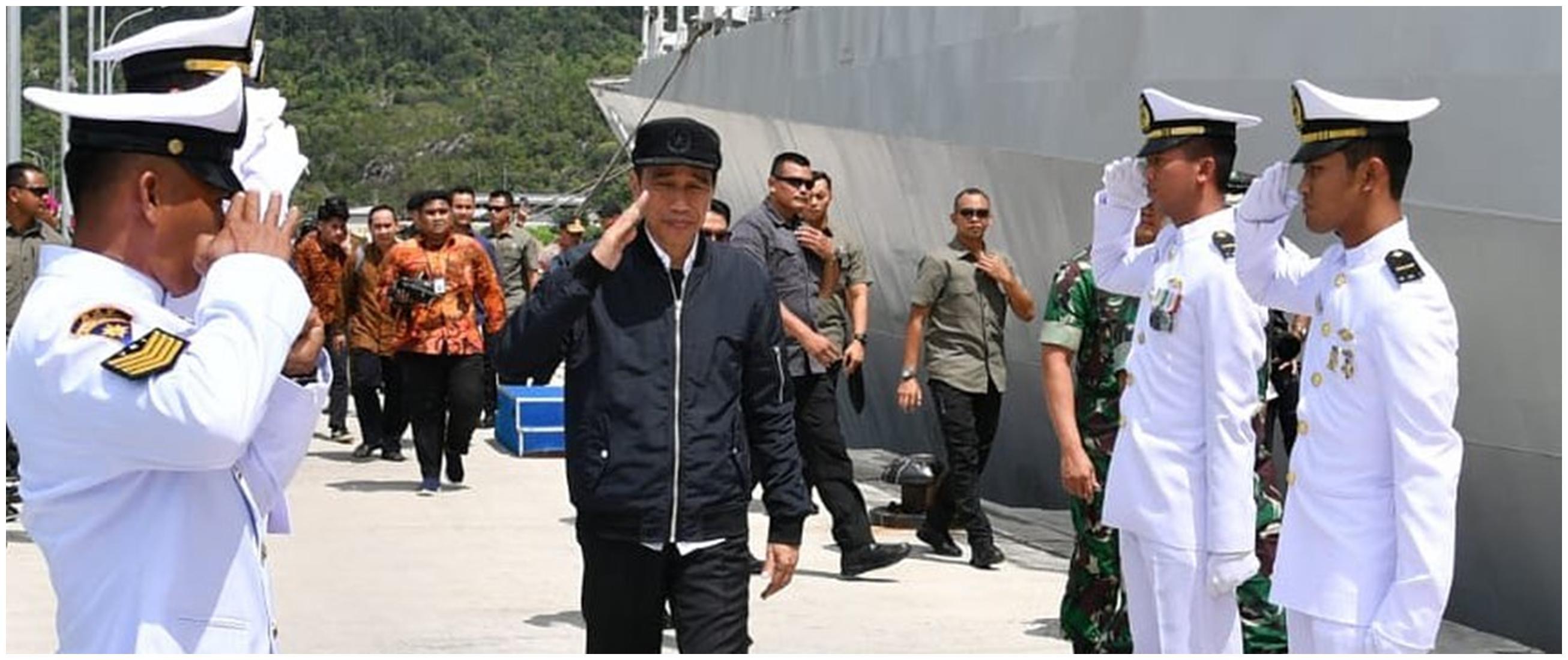10 Momen Presiden Jokowi ke Natuna di tengah tensi panas RI-China