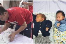 9 Momen gemas bayi Baim Wong bertemu anak kembar Syahnaz