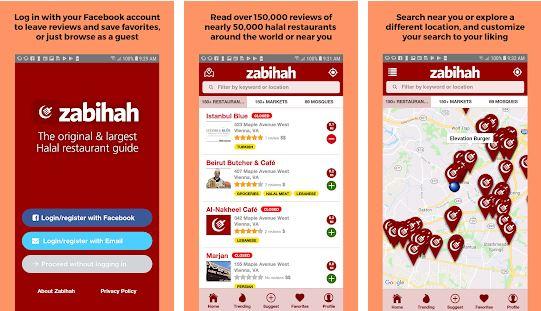 Aplikasi pencarian makanan halal freepik.com