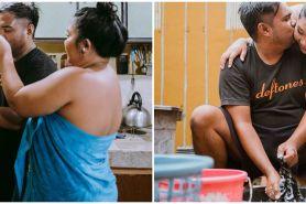 15 Potret prewedding low budget kehidupan rumah tangga, natural