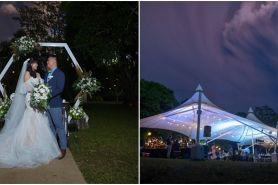 Pasangan ini menikah saat Gunung Taal erupsi, potretnya mengejutkan