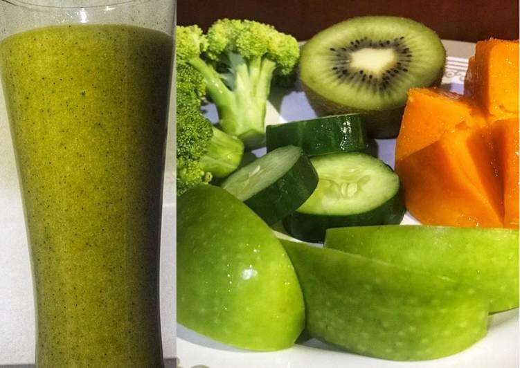 Resep jus buah mix sayuran, enak dan mudah dibuat