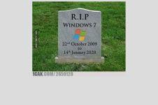 10 Meme lucu perpisahan Windows 7, bikin senyum tapi sedih