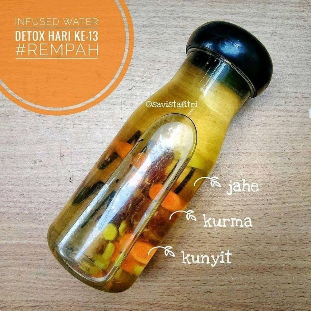 Resep infuse water rempah Instagram/@tips.jsr  @menujsr_