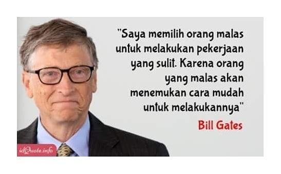 Kata-kata quote bijak Bill Gates Facebook/@catatanentrepreneurofficial   Instagram/@lisa_ambarwati