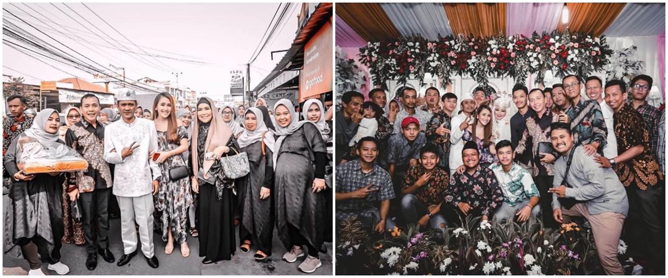 8 Momen Ayu Ting Ting hadiri nikahan saudara, gayanya curi perhatian