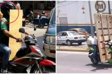 10 Potret orang bawa barang pakai motor ini bikin bingung