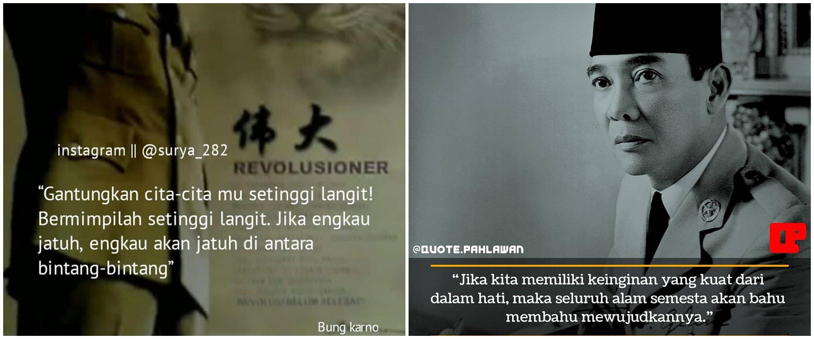 40 Kata-kata quote bijak Bung Karno sebagai semangat dan motivasi