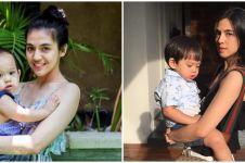 7 Momen DJ Una saat momong anak, gayanya bikin sudah kedip